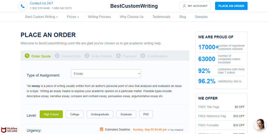 bestcustomwriting.com order