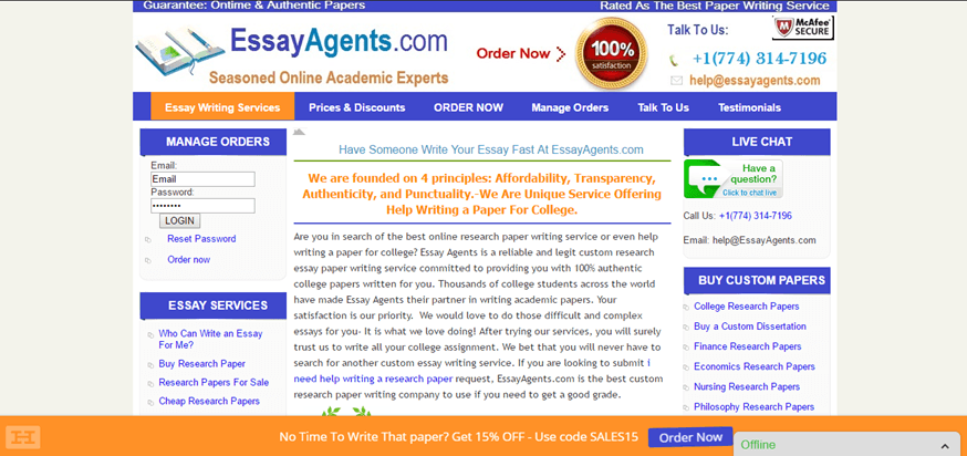 Essay Agents Review
