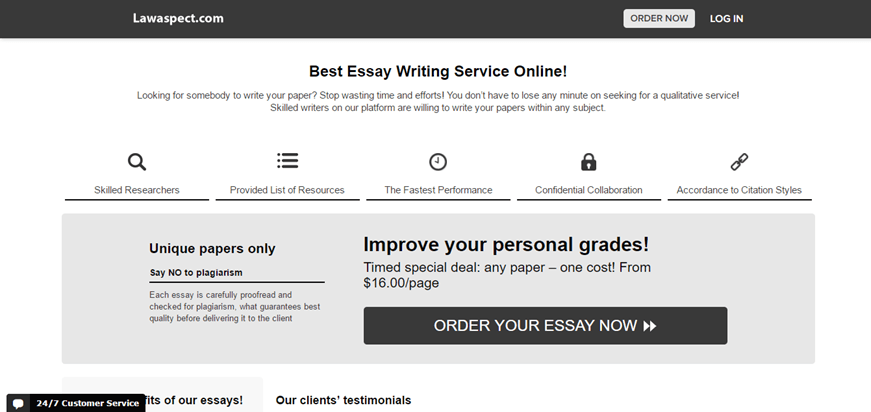 essays.lawaspect review