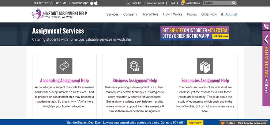 instantassignmenthelp.com.au services