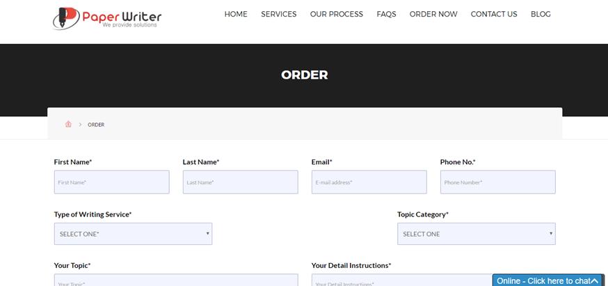 paperwriter.co.uk order