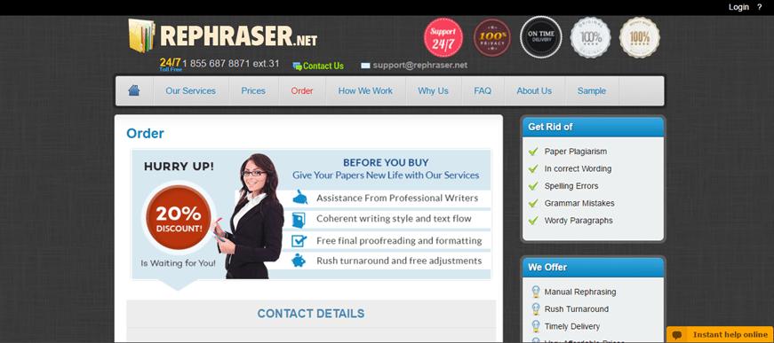 rephraser.net order