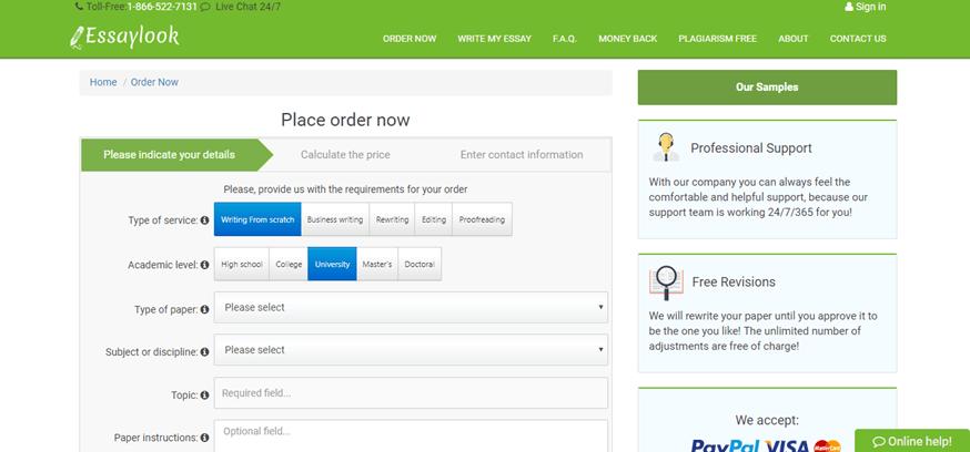 essaylook.com order