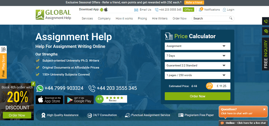 global assignment help review