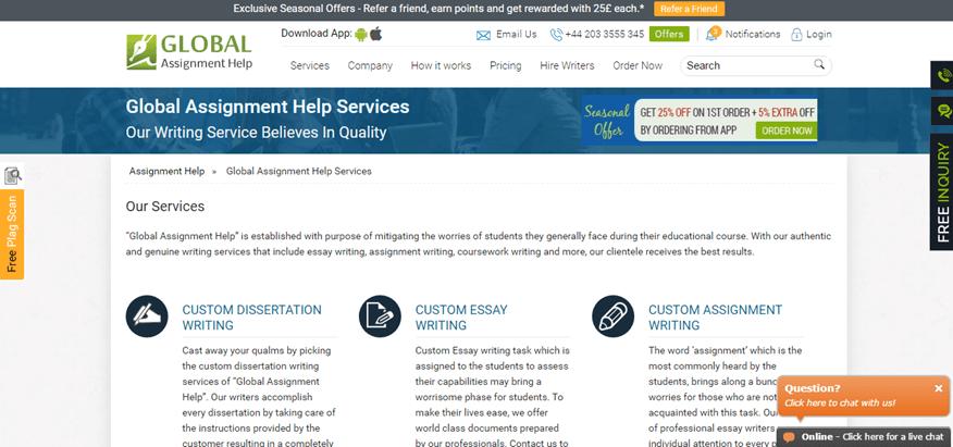 globalassignmenthelp.com services