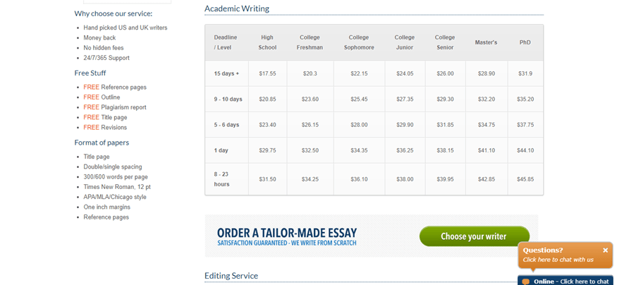 myessaywriting.com pricing