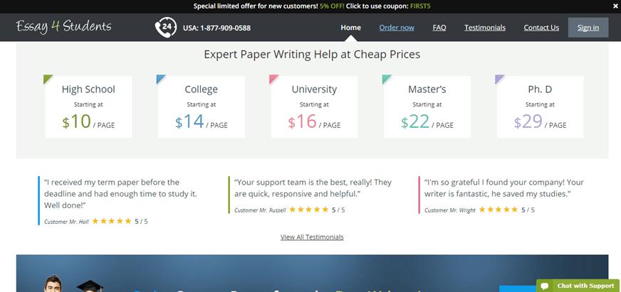 essay4students.com prices
