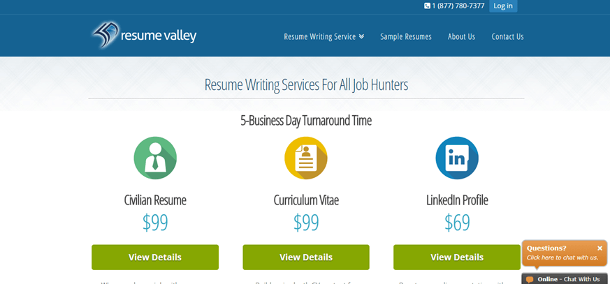 resumevalley com review - limited services