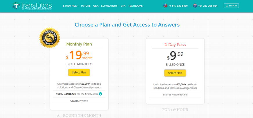 transtutors.com prices