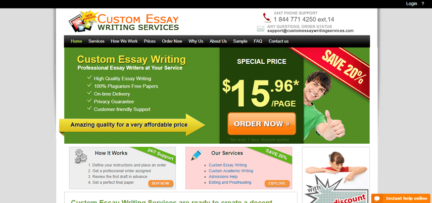 Custom writing service is very useful