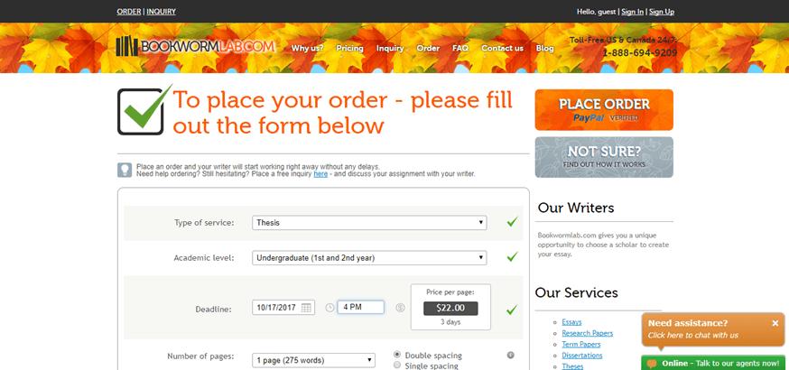 bookwormlab.com order