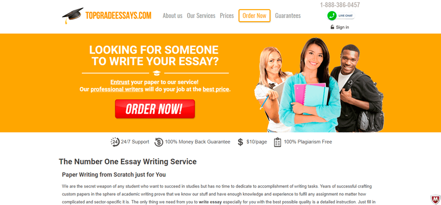top grade essays review