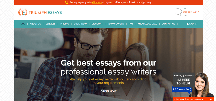 triumph essays review