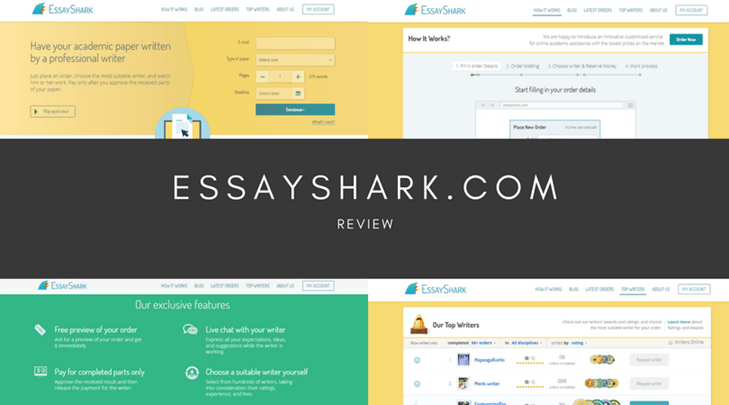 essayshark writers reviews Essayshark review [score: 62/10] 62 usability 70/10 pricing 46/10 support 50/10 quality 76/10 delivery 67/10 the peculiarity of the service is the fact that it works without the.