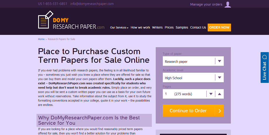 domyresearchpaper.com for sale