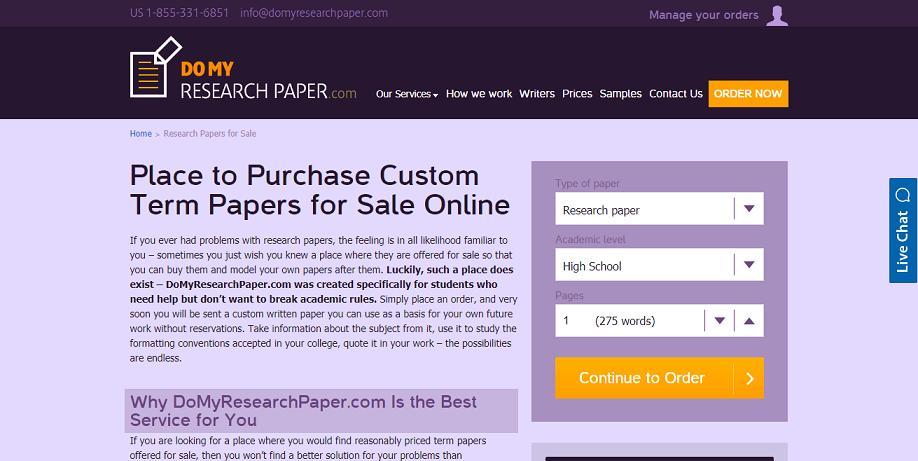 domyresearchpaper.com for sale