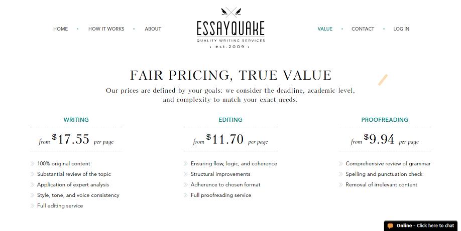 essayquake.com prices