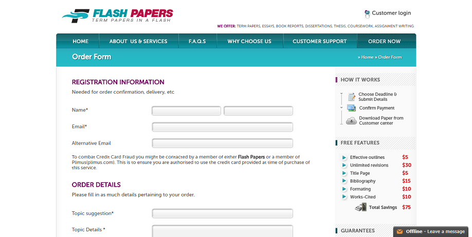 flashpapers.com order