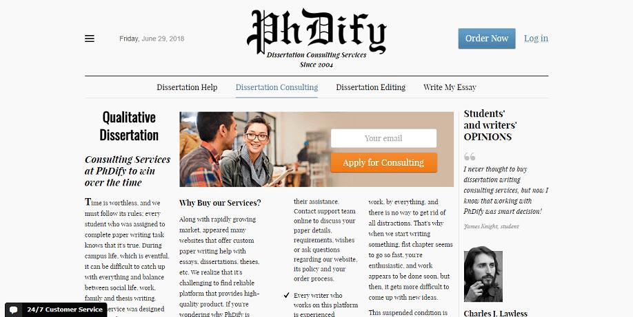 phdify.com dissertation consulting services
