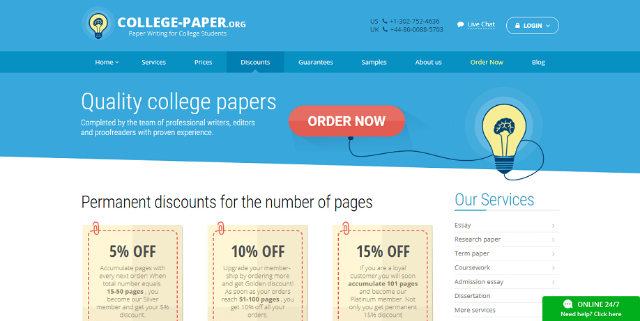 college-paper.org discounts