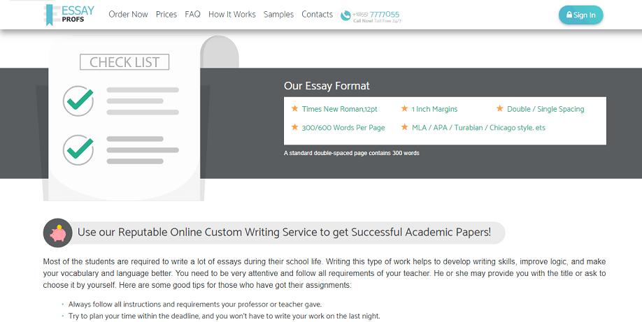 essayprofs.com format