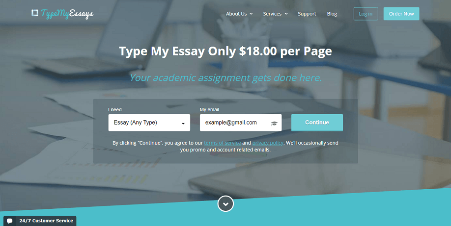 type my essays review