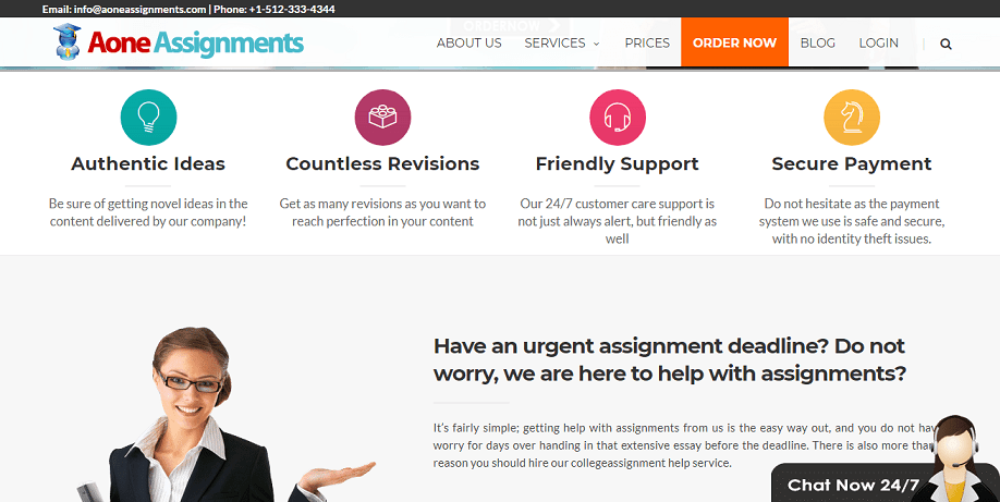 aoneassignments.com services