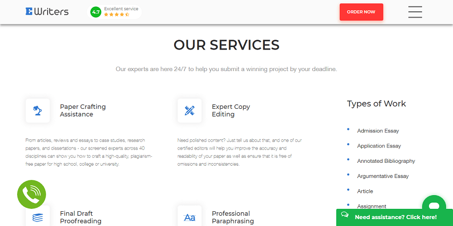 ewriters.pro services
